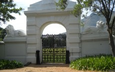 Lion's gate on Hiddingh campus