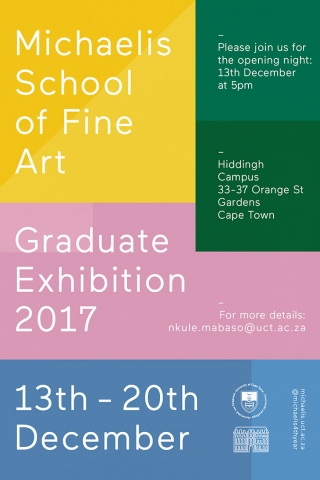 Michaelis 2017 Graduate Exhibition